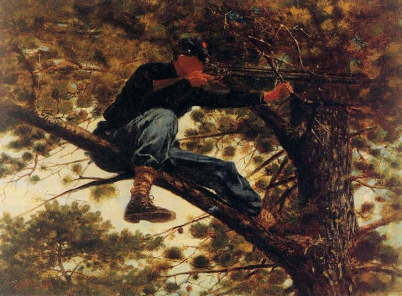 Sharpshooter, 1863, by Winslow Homer (February 24, 1836 – September 29, 1910).