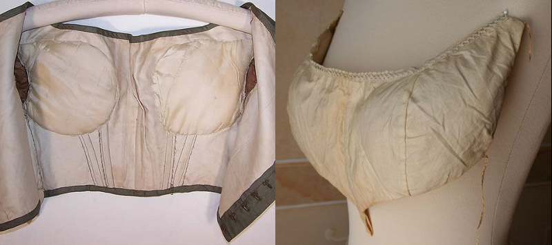 1850s bodice and pad