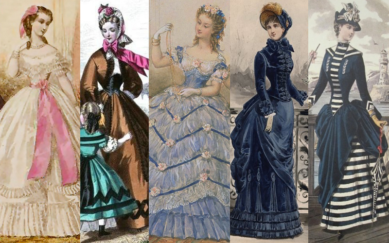 1860s and 1870s Victorian fashion