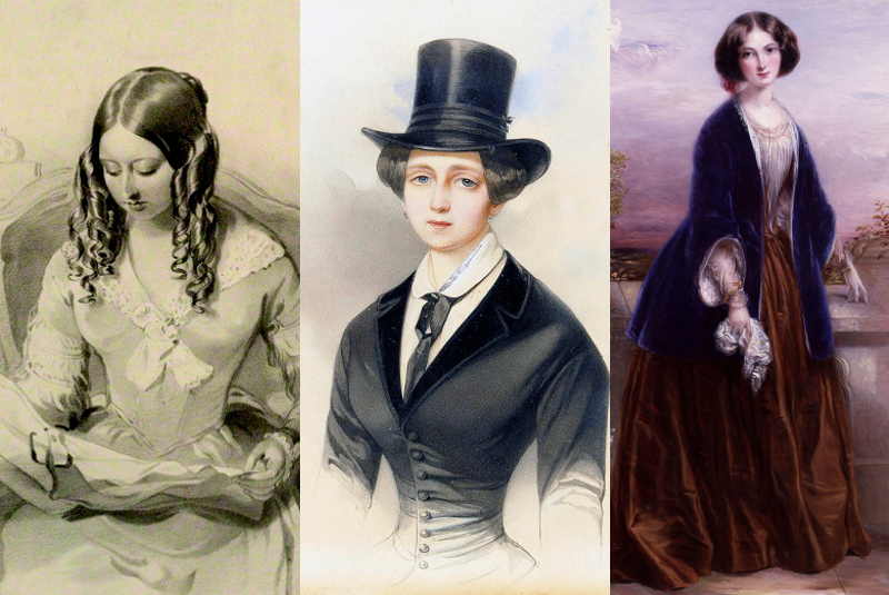 Queen Victoria 1843, Dutchess Catherine Mikhailovna 1847, and Effie Gray 1851
