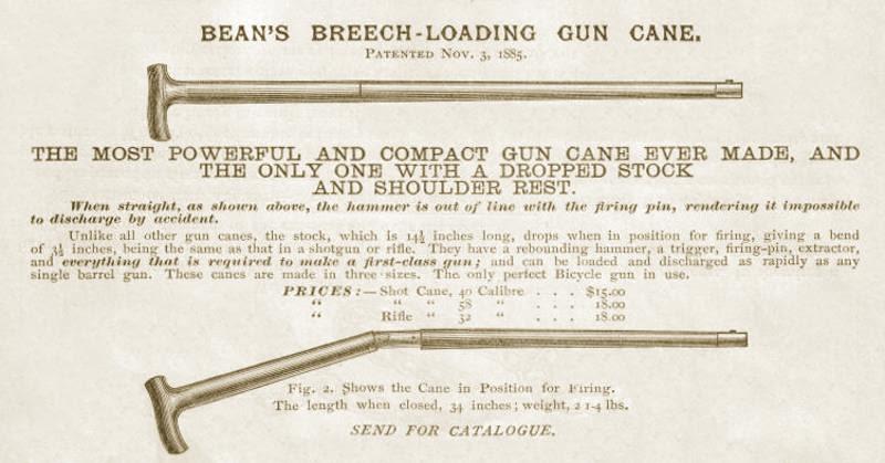 Bean's Gun Cane 1885