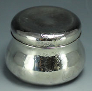 powder jar sterling