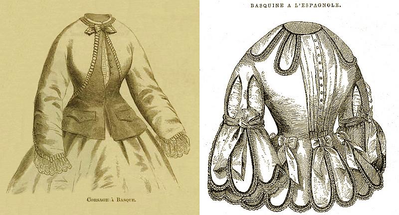 basque 1864 & basquine 1857