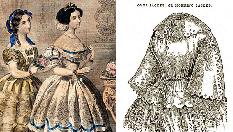 bertha 1855 & bell sleeves 1857