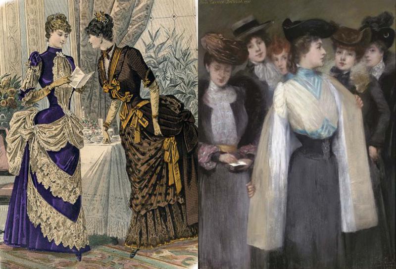 bustles 1880s & corselet skirt 1895
