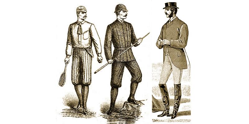 knickerbockers 1888, jackboots 1868