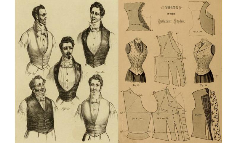 waistcoats 1834, vest pattern 1890