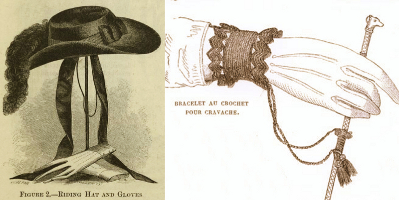 Ladies' riding accessories 1855.