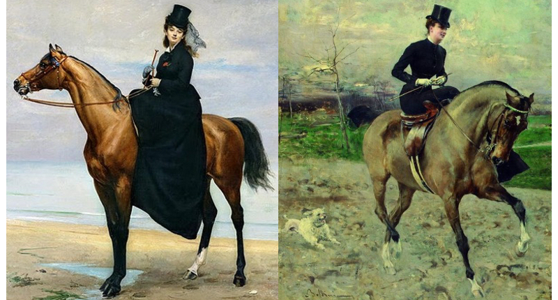Formal riding habits 1873, 1880.