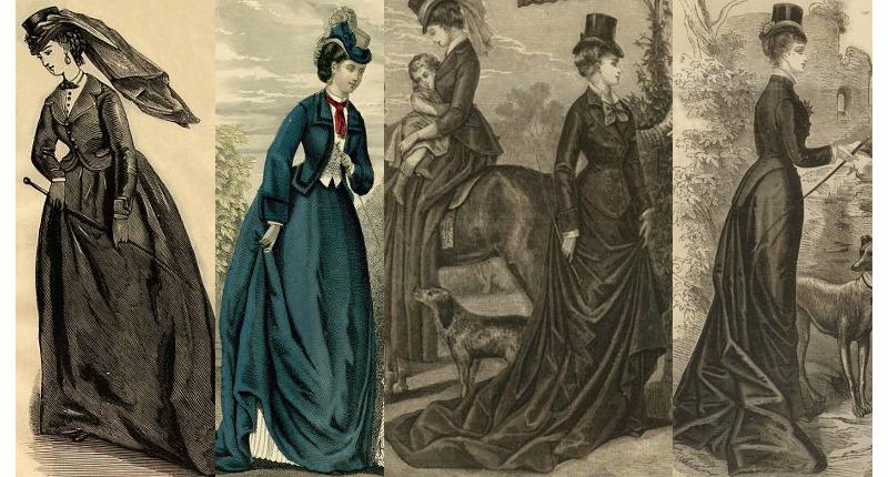 Riding habits 1871, 1872, 1876, 1878.