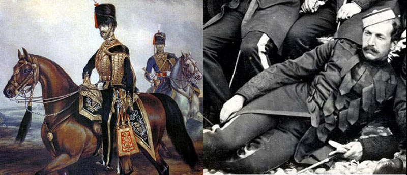 8th Hussars, 1854, and Capt A. Hutton, 1st Dragoon Guards 1871