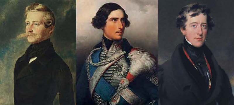 Prince Leopold of Saxe-Coburg & Gotha, Prince Frederick William of Hesse Cassel, and William Cavendish, 6th Duke of Devonshire.