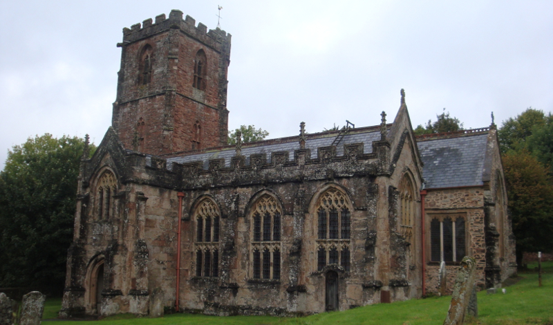 Holy Ghost Church, Crowcombe, from the south.
