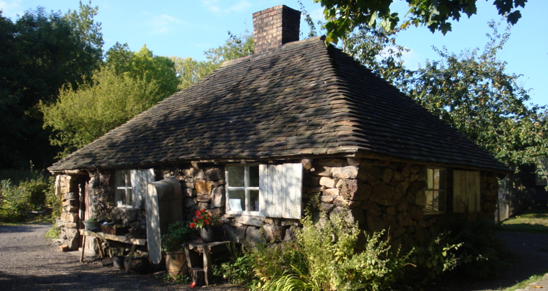 A low simple stone cottage like Maddie would have dwelt in.