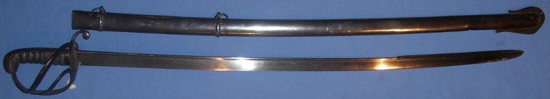 1821 pattern light cavalry officer sabre, which were produced up until 1852.