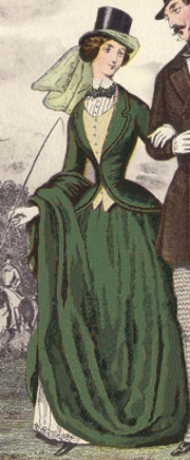 Kate's habit would have been similar to the one depicted here, but darker green.