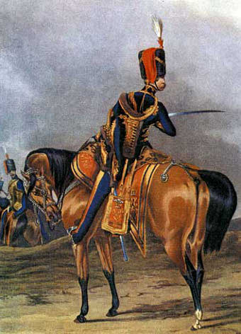 10th Hussars, officer, circa 1844.