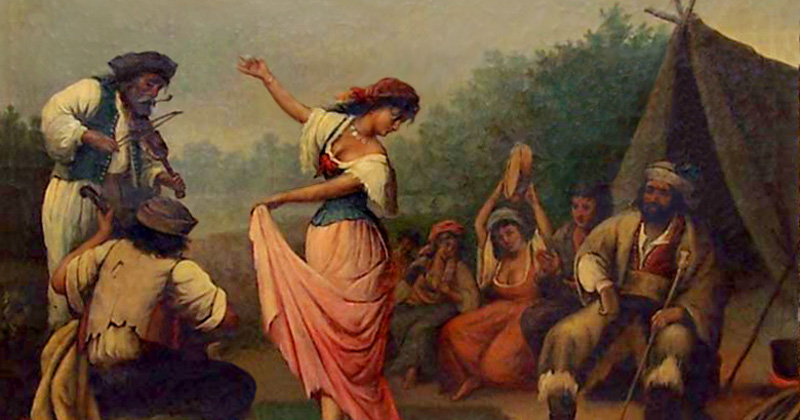 Gypsy Dance, by R. Lipps (1857 - 1926).