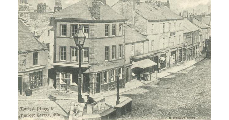 Ulverston Marketplace 1860.