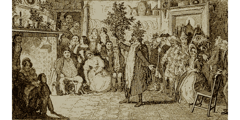A folk tradition, mummers performing at holidays was always a delight and popular throughout the Victorian era.