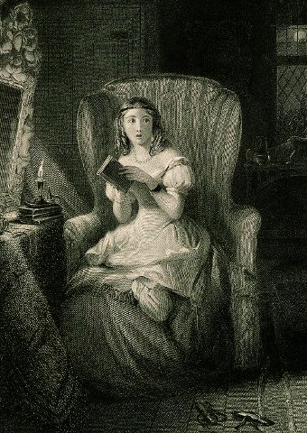 The Ghost Story RW Buss 1804-75 engraving by R. Graves 1798-1873